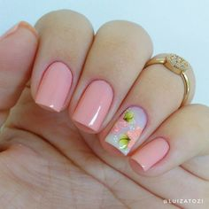 Gold Gel Nails, Neon Nails, Acrylic Nails, Violet Pastel, Manicure E Pedicure, Flower Nails, How To Do Nails, Pretty Nails, Nail Colors