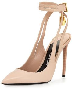 40ed4020cef TOM FORD Leather Ankle-Lock 105mm Pump