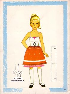 Heidi: A Wonder Cut and Color Book* For lots of free paper dolls International Paper Doll Society #ArielleGabriel #ArtrA thanks to Pinterest paper doll collectors for sharing *