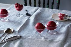 Roasted Cherry Sorbet