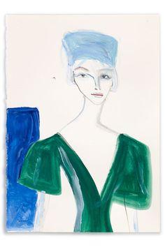 Tanya Ling Fashion Week fashion illustrations (Vogue.com UK)