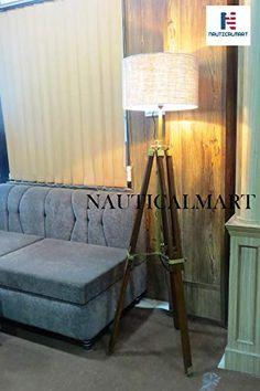 Designer Premium Quality Wooden Tripod Lamp Stand Floor Lamp Vintage Home Decor NauticalMart Decor, Tripod Floor Lamps, Tripod Lamp, Floor Lamp, Lamp, Flooring, Vintage House, Vintage Home Decor, Vintage Floor Lamp