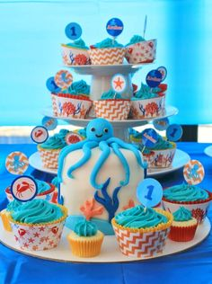 White Chocolate Mud Cupcake Recipe: Under the Sea Party @ Love That Party…