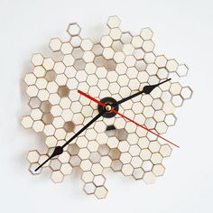 Honeycomb Clock - 15 Clocks That Are So Timely - Photos