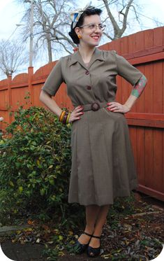 Completed: cake and vinegar dress | by gum, by golly! #vintage #sewing