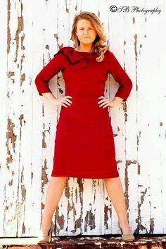 Classy red dress, great for holidays! #daintyjewells daintyjewells.com