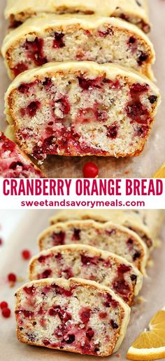 Cranberry Orange Bread is the perfect breakfast pastry for the holidays! Cranberry Orange Bread is the perfect breakfast pastry for the holidays! Add it to your menu for the holidays for a festive spread your guests will love! Baking Recipes, Dessert Recipes, Recipes Dinner, Pasta Recipes, Crockpot Recipes, Soup Recipes, Chicken Recipes, Recipies, Cranberry Orange Bread