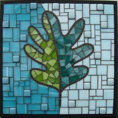 Multidimensional using stained glass, glass and ceramic tile.  Josh Hilzendeger, artist