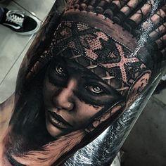 Fun piece today. Next to a sick @harleykirkwood tattoo. Thanks for the skin Manaia