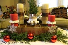 A Junky Christmas Centerpiece | Jumping in the Sink