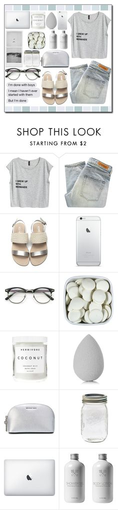 """I grew up with mermaids ..."" by ana-a-m ❤ liked on Polyvore featuring Denham, Herbivore, beautyblender and MICHAEL Michael Kors"