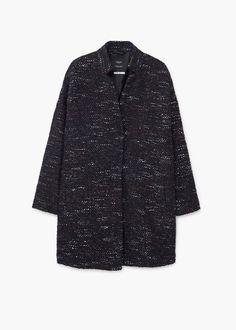 Abrigo jaspeado lana | MANGO