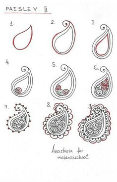 to draw indian mehndi henna paisley. DIY -How to draw indian mehndi henna paisley. DIY - Easy Mehndi Designs that are Quick to Try Yourself Mandala Art, Mandalas Painting, Mandalas Drawing, Mandala How To Draw, How To Draw Henna, How To Zentangle, How To Draw Tattoos, Mandala Doodle, Henna Mandala