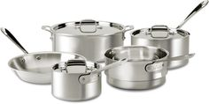 All-Clad 7100-7 Master Chef 2 MC2 Stainless Steel Tri-Ply Bonded Cookware Set, 8-Piece, Silver *** Read more reviews of the product by visiting the link on the image.
