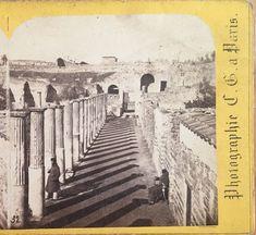 Militaria Collectibles Pompeii Foro Photo Alinari Italy Italy Vintage Albumin Ca 1880