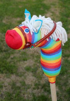 Source: Rad Megan  Why spend hundreds on a hobby horse when you can make your own? Rad Megan teaches you how to turn that lonely sock into a pretty pony for your tots.