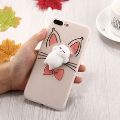 [$2.11] For iPhone 7 Plus 3D Cartoon Squeeze Relief Squishy Dropproof Protective Back Cover Case