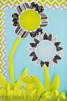 Inspired In Style green chevron frogs