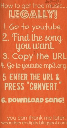 How to legally download songs from YouTube------I checked it. It works. kgreat. by Kharis