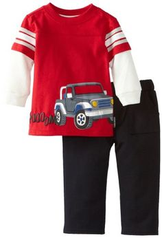 Newborn Two Piece Truck Pullover and Pant Set