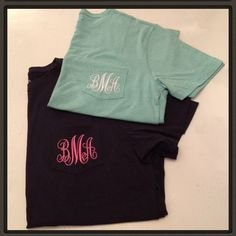 Monogrammed tshirts designed by Queen B's Sassy Gifts & Decor. Contact Facebook.com/QueenBsSassyDecor to place your order today!