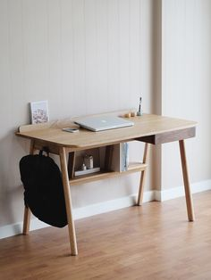 Gorgeous workspace design | pretty desk | simple, minimal desk | home office | pretty home office | light-filled office | dream office | office inspiration | workspace inspiration.