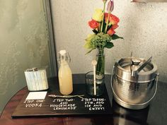 A flask and mixing instructions, courtesy of The Ritz-Carlton, Laguna Niguel, add a new dynamic to a welcome amenity.