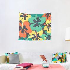 """Flower Print, Flower Pattern"" Tapestry by MsD7 | Redbubble Flower Patterns, Print Patterns, Textile Prints, Textiles, Thing 1, All Print, Flower Prints, Wall Tapestry, Vivid Colors"