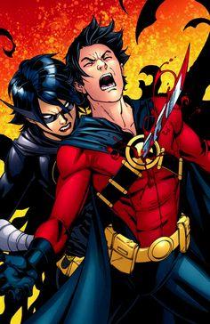 Cassandra Cain (Batgirl) Impaling Tim Drake Red Robin #25 1280x1979 v3