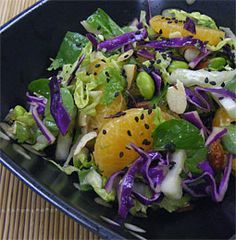 Oriental Orange and Edamame Slaw
