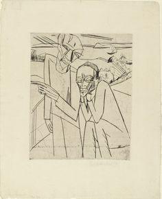 Erich Heckel (German, 1883–1970) The Tempter (Der Versucher)  Date:1913 Medium:Drypoint and etching
