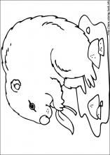 groundhog coloring dot to dot coloring page