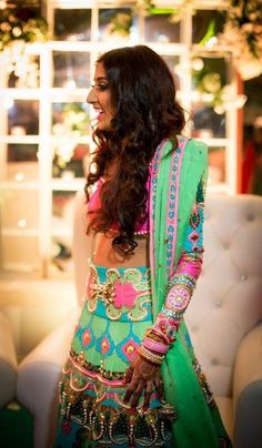 Manish Arora Lehenga . See more on wedmegood.com