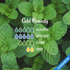 Cold Remedy - Essential Oil Diffuser Blend #aromatherapyschoolsonline #essentialoils