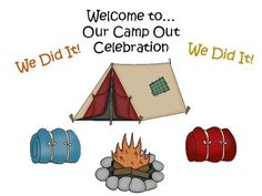 Have an indoor camp out celebration on the last day of school!Tell your students to come to school in their pajamas and bring sleeping bags, pillows, flashlights, and their favorite books. Set up some tents (or make tents out of bed sheets and chairs) and make an indoor fireplace out of red, yellow, and orange tissue paper, rocks, and an electric candle!