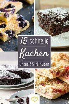 Ein Kindergeburtstag artet schnell in Stress aus. Mit diesen 15 schnellen Rezepten backt der Kuchen sich quasi wie von allein - ein Sorge weniger!