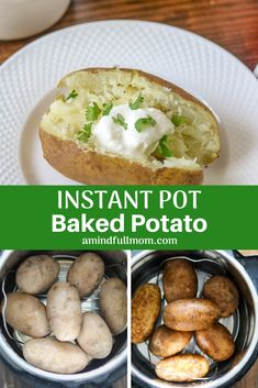 Instant Pot Baked Potatoes: Make fluffy, fork tender potatoes in the pressure cooker every singe time! Directions on how to cook potatoes in Instant Pot with troubleshooting tips. #instantpot #bakedpotato #pressurecooker