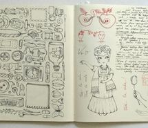 Inspiring picture art, design, drawing, moleskin, sketch. Resolution: 500x347. Find the picture to your taste!