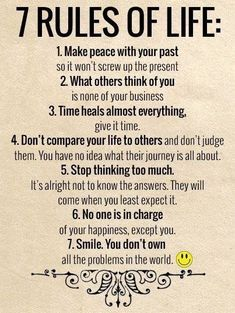 7 Rules Of Life - ø Eminently Quotable - Quotes - Funny Sayings - Inspiration - Quotations ø Wisdom Quotes, True Quotes, Words Quotes, Quotes To Live By, Affirmation Quotes, Quotable Quotes, Lead On Quotes, Spiritual Quotes, Positive Affirmations