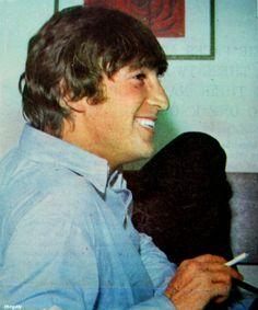 "John Lennon..........LOVE HIS SMILEING FACE.......GREAT PICTURE OF ""JOHN.""......WE ALL MISS YOU ""JOHN.""......WE WISH YOU WERE HERE NOW.......LOVE ALWAYS......R.I.P."