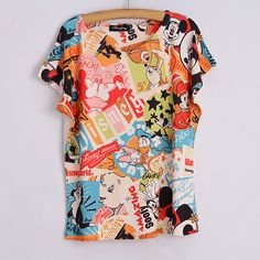 summer women loose batwing seelve 3D printing tees casual shirt shirts tops size women more