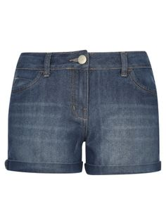 Shorts - Mid Wash Denim Shorts