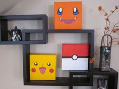 Pokemon Inspired Paintings (Set of 3)