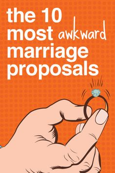 Guys - DON'T try any of these! The 10 Most Awkward Proposals #wedding #scoop