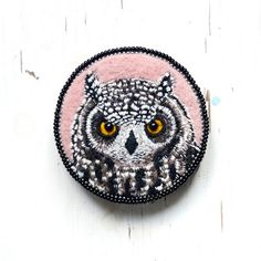 My Owl Barn: Embroidered Brooches by Conieco