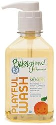 Playful Wash from Babytime by Episencial is a 2-in-1 shampoo and body wash that's extra gentle and tear free - perfect for baby's and older kids alike. It's the #1 organic baby wash chosen by hospitals and doctor recommended. Featuring a blend of calming calendula, soothing aloe for extra sensitive skin and the cleansing power of pure thyme oil, Playful Wash keeps baby's skin pH-balanced and naturally squeaky clean.