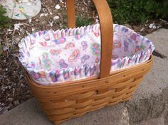 Custom Fabric Liners for Longaberger Spring Basket by LJVermillion, $15.00