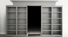I wonder if I could do this with my closet... I could have my library and not have to look at ugly closet doors...