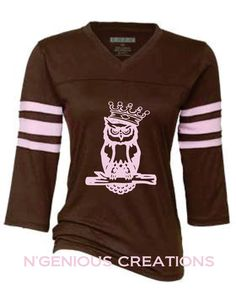 N'Genious Creations Exclusive Owl Jersey Tshirt for Women by NGeniousCreations, $32.00