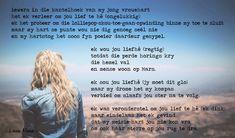 ter wille van 'n nagedagtenis Good Morning Love, High Five, Afrikaans, Poetry, Sad, Give Me 5, Good Morning My Love, Poems, Poetry Books
